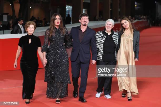 Mariella Fenoglio Francesca Rettondini Rosario Petix letizia Espanoli and Livia Cascarano from Il Cioccolatino movie walk the red carpet ahead of the...