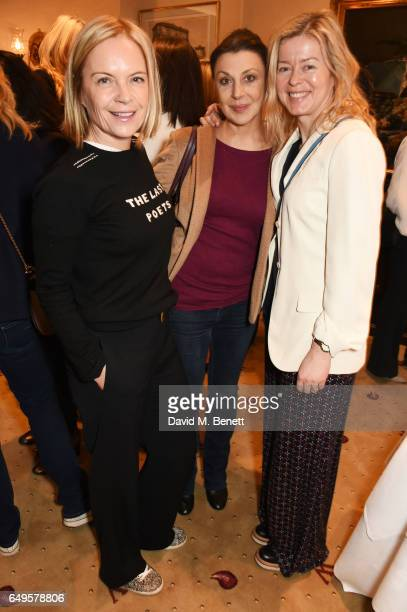 Mariella Frostrup Allegra Donn and Lady Helen Taylor attend the International Women's Day lunch at Wiltons on March 8 2017 in London United Kingdom
