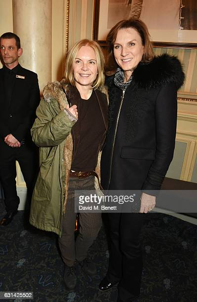 "Mariella Frostrup and Fiona Bruce attend the press night after party for ""The Kite Runner"" at Wyndhams Theatre on January 10, 2017 in London, England."