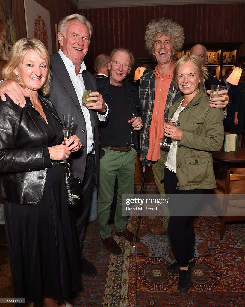 Mariella Frostrup (extreme right) and Guests attend the launch of the Academicians' Room private members club in The Keeper's House at The Royal Academy of Arts on September 8, 2015 in London, England.