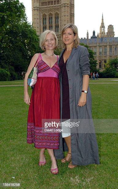 Mariella Frostrup and Penny Smith during House of Lords vs House of Commons Tug of War June 21 2005 at Victoria Tower Gardens in London Great Britain