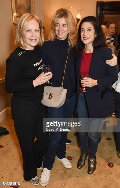 Mariella Frostrup Arabella Pollen and Fatima Bhutto attend the International Women's Day lunch at Wiltons on March 8 2017 in London United Kingdom