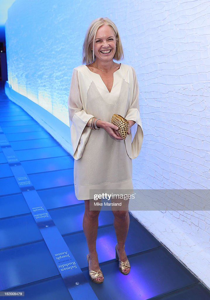 Mariella Frostrup attends the launch of Salman Rushdie's new book 'Joseph Anton' on September 14, 2012 in London, England.