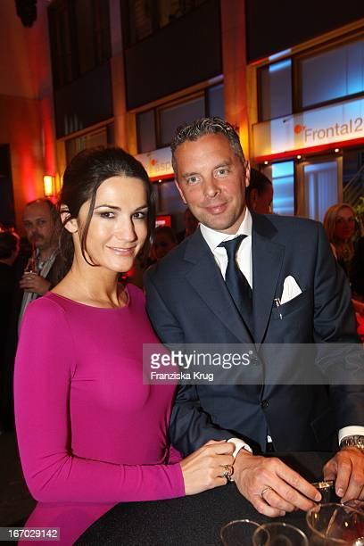 """Mariella Gräfin Von Faber Castell Und Ehemann Patrick Graf Von Faber-Castell Bei Der Verleihung Des """"Deutschen Gründerpreises 2008"""" Im Zdf..."""