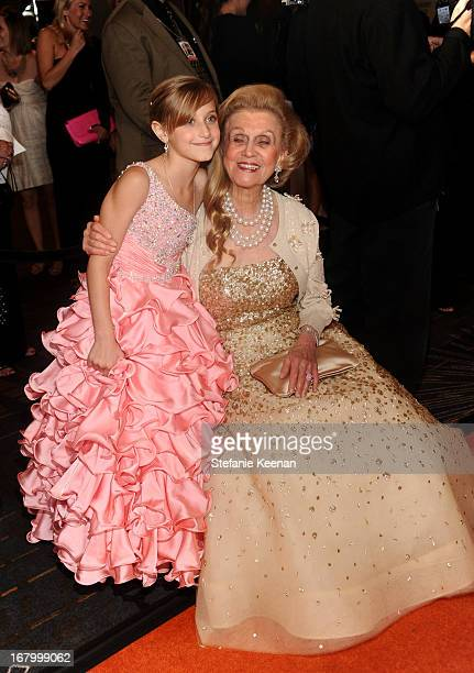 Mariella Rickel and Barbara Davis attend the 20th Annual Race To Erase MS Gala Love To Erase MS at the Hyatt Regency Century Plaza on May 3 2013 in...