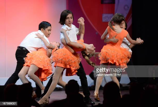 Mariella Rickel and dancers perform the 20th Annual Race To Erase MS Gala Love To Erase MS at the Hyatt Regency Century Plaza on May 3 2013 in...