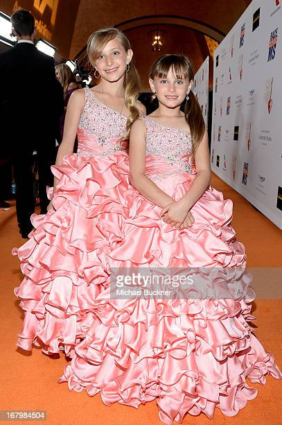 Mariella Rickel and Isabella Rickel attend the 20th Annual Race To Erase MS Gala Love To Erase MS at the Hyatt Regency Century Plaza on May 3 2013 in...