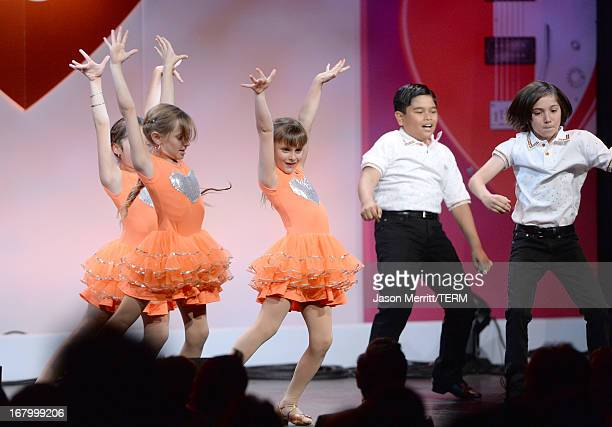 Mariella Rickel Isabella Rickel and dancers perform at the 20th Annual Race To Erase MS Gala Love To Erase MS at the Hyatt Regency Century Plaza on...