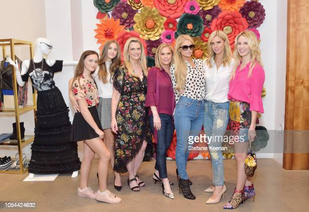 Mariella Rickel Isabella Rickel Nancy Davis Kathy Hilton Paris Hilton Nicky Hilton Rothschild and Tessa Hilton attend Nancy Davis Kathy Hilton Paris...