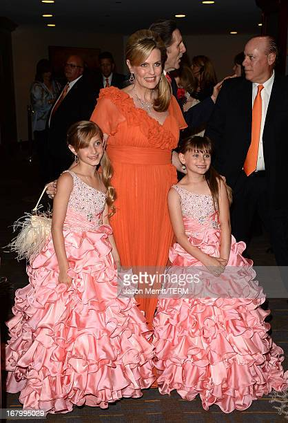 Mariella Rickel Nacy Davis and Isabella Rickel attend the 20th Annual Race To Erase MS Gala Love To Erase MS at the Hyatt Regency Century Plaza on...