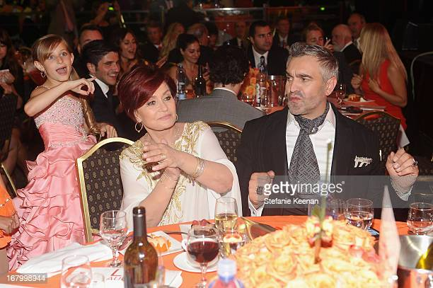 Mariella Rickel Sharon Osbourne and Designer Martyn Lawrence Bullardattends the 20th Annual Race To Erase MS Gala Love To Erase MS at the Hyatt...
