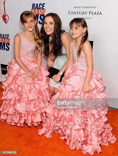 Mariella Rickel Zoey Deutch and Isabella Rickel attends the 20th Annual Race To Erase MS Gala Love To Erase MS at the Hyatt Regency Century Plaza on...