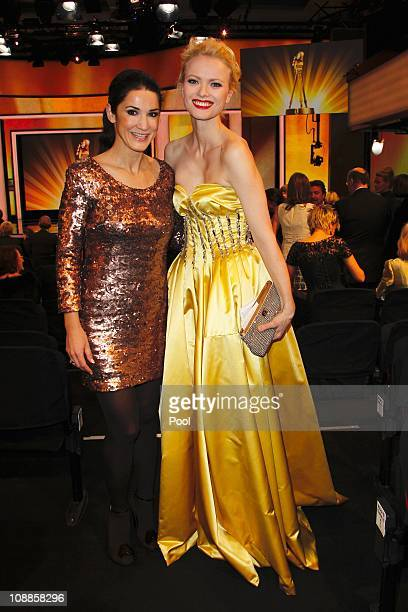 Mariella von Faber-Castell and Frankziska Knuppe attend the 46th Golden Camera awards at the Axel Springer Haus on February 5, 2011 in Berlin,...