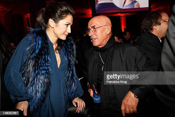 Mariella von FaberCastell and Otto W Retzer attend 'ARD Degeto Blue Hour' Party in the Museum of communication in Berlin on February 11 2012 in...