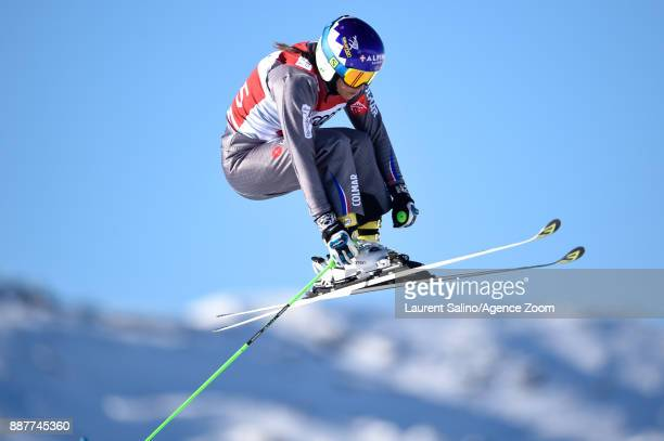 Marielle Berger Sabbatel of France during qualifications during the FIS Freestyle Ski World Cup, Men's and Women's Ski Cross on December 7, 2017 in...