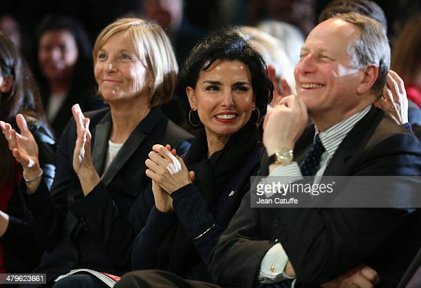 Marielle de Sarnez Rachida Dati Philippe Goujon attend the last big meeting before the elections of Paris UMP mayoral candidate Nathalie...