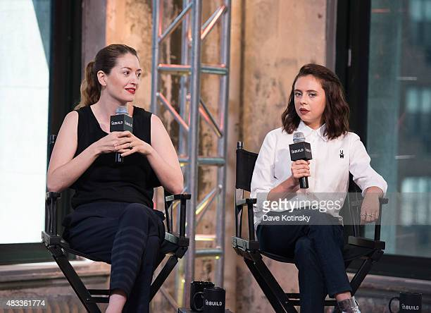 Marielle Heller and Actor Bel Powley speak at the AOL BUILD Speaker Series Presents The Diary Of A Teenage Girl at AOL Studios In New York on August...