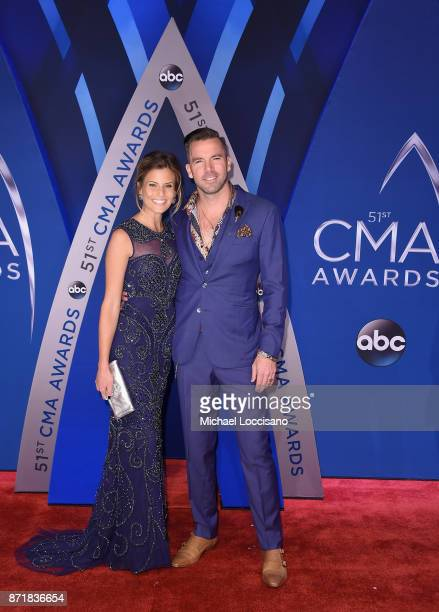 Marielle Jaffe and TK McKamy attends the 51st annual CMA Awards at the Bridgestone Arena on November 8 2017 in Nashville Tennessee
