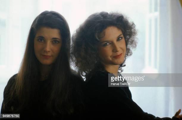 Marielle Labèque et Katia Labèque pianistes en juin 1983 à SaintJeandeLuz France