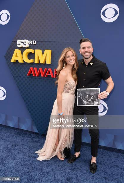 Marielle McKamy and TK McKamy attend the 53rd Academy of Country Music Awards at MGM Grand Garden Arena on April 15 2018 in Las Vegas Nevada