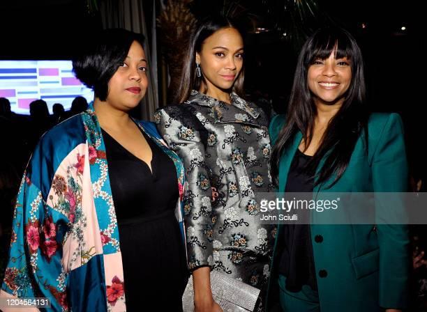 Marielle Saldana, Zoe Saldana, and Cicely Saldana attend the Cadillac Oscar Week Celebration at Chateau Marmont on February 6, 2020 in Los Angeles,...