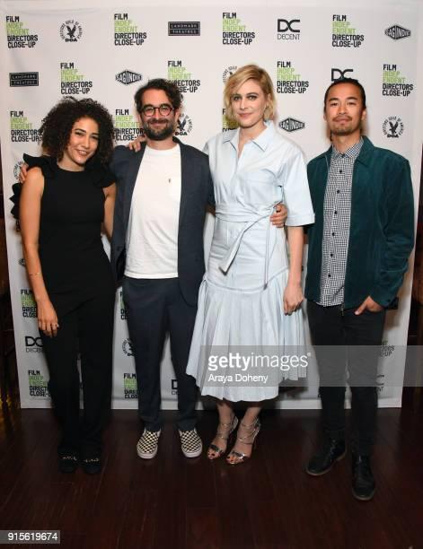 Marielle Scott Jay Duplass Greta Gerwig and Jordan Rodrigues attend the Film Independent hosts Directors CloseUp Screening of 'Lady Bird' at Landmark...
