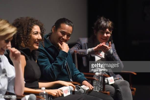 Marielle Scott Jordan Rodrigues and April Napier attend the Film Independent Hosts Directors CloseUp Screening Of 'Lady Bird' at Landmark Theatre on...