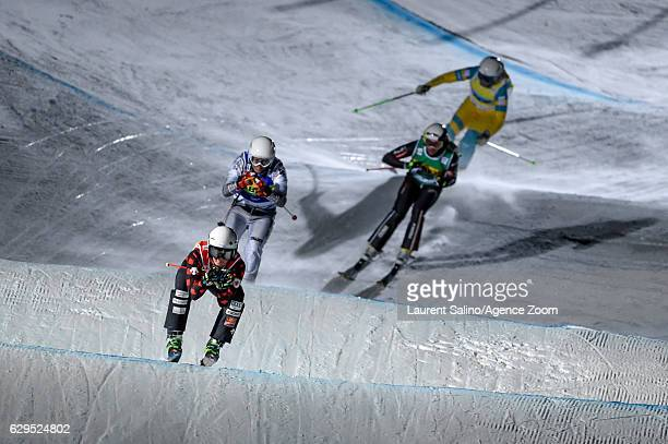 Marielle Thompson of Canada takes 1st place during the FIS Freestyle Ski World Cup Men's and Women's Ski Cross on December 13, 2016 in Arosa,...
