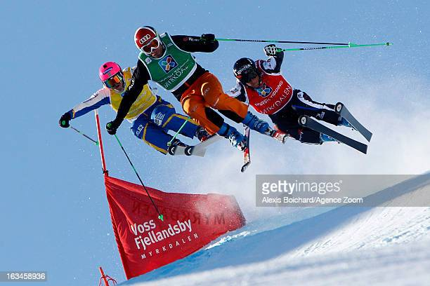 Marielle Thompson of Canada takes 2nd place during the FIS Freestyle Ski World Championship Men's and Women's Ski Cross on March 10 2013 in Voss...