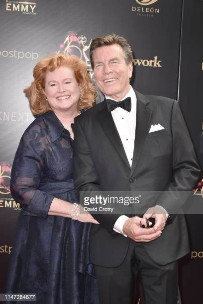 Mariellen Bergman and Peter Bergman attend the 46th annual Daytime Emmy Awards at Pasadena Civic Center on May 05 2019 in Pasadena California