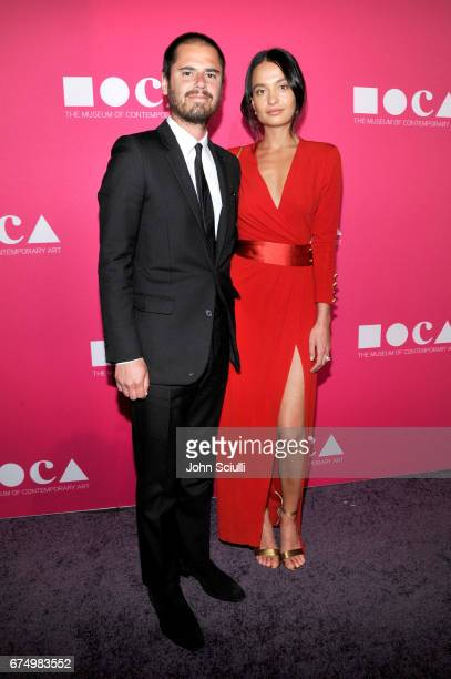 Marie-Lou Bartoli and guest at the MOCA Gala 2017 honoring Jeff Koons at The Geffen Contemporary at MOCA on April 29, 2017 in Los Angeles, California.