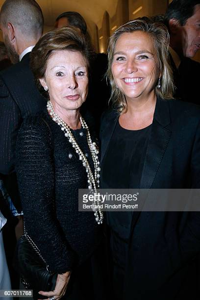 MarieLouise de Clermont Tonnerre and Director of Communication and Image of Kerng Group Valerie Duport attend the 4O Rue de Sevres Preview at the...