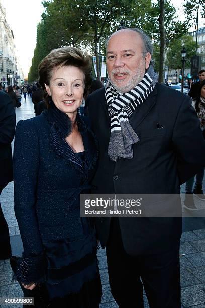 MarieLouise de Clermont Tonnerre and French Academician Marc Lambron attend the 'Le nouveau Stagiare' movie Premiere to Benefit 'Claude Pompidou...