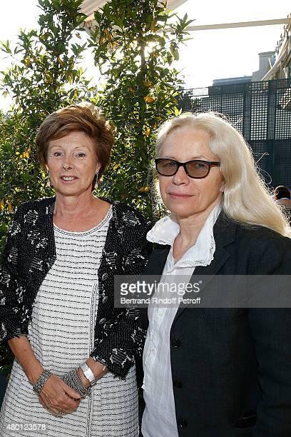MarieLouise de Clermont Tonnerre and Photographer Dominique Issermann attend the Federation Francaise De La Couture Closing Party as part of Paris...