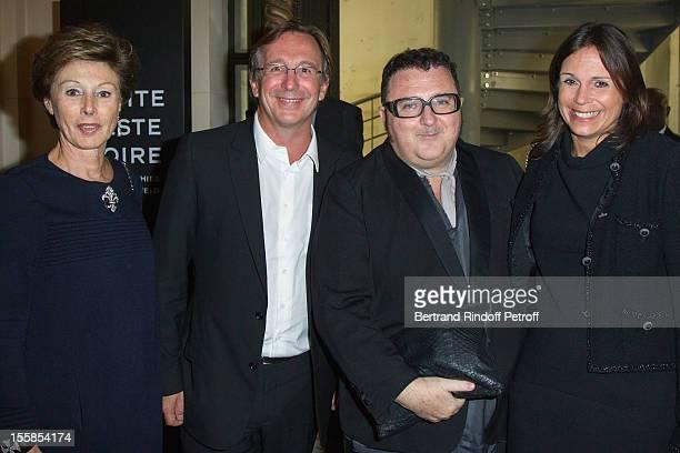 MarieLouise de Clermont Tonnerre Bruno Pavlovsky President of fashion Chanel Alber Elbaz and Pavlosky's wife attend 'La Petite Veste Noire' Book...