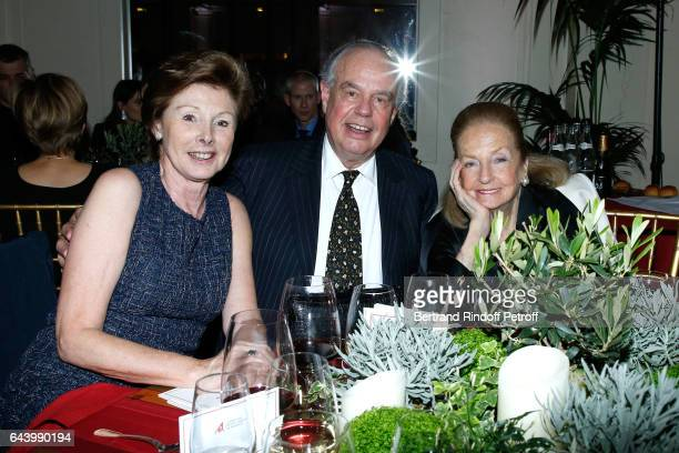 MarieLouise de Clermont Tonnerre Frederic Mitterrand and Doris Brynner attend the celebration of the 10th Anniversary of the Fondation Prince Albert...