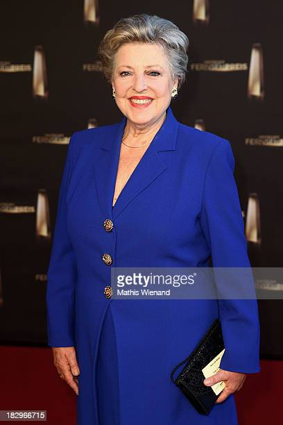 MarieLuise Marjan arrives at the red carpet of the 'Deutscher Fernsehpreis 2013' at Coloneum on October 2 2013 in Cologne Germany