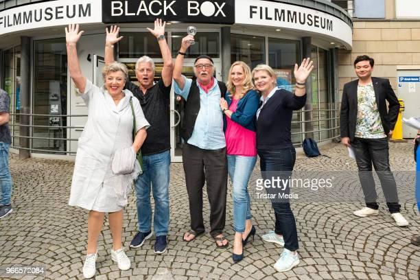 MarieLuise Marjan Jo Bolling Hans W Geissendoerfer Sontje Peplow and Andrea Spatzek during the fan event 'Lindenstrasse Kult in Serie' on June 2 2018...