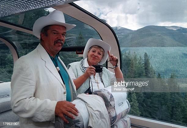 "Marie-Luise Marjan, Lebensgefährte Bodo;Bressler, Kanada, Urlaub, ""Rocky;Mountaineer"", Zug, Freund,"