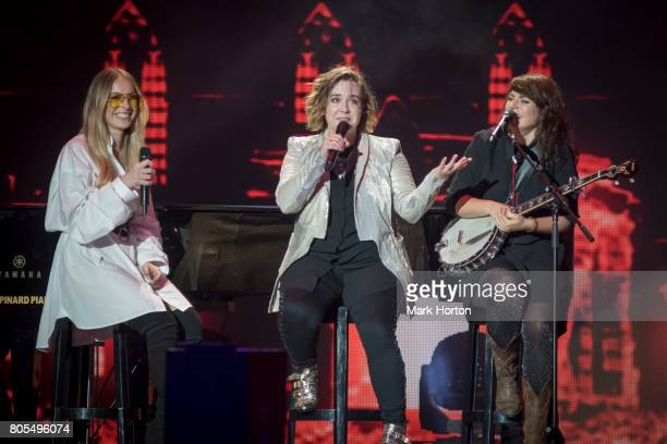 MarieMai Serena Ryder and Lisa Leblanc perform during Canada Day celebrations at Parliament Hill on July 1 2017 in Ottawa Canada