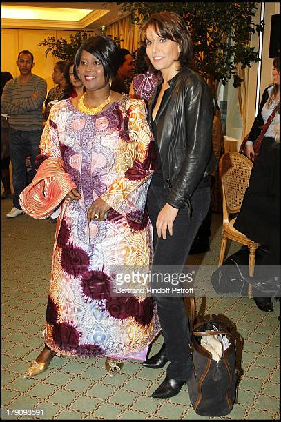 Marieme Fal and Carole Rousseau at The Galette Des Rois Charity Function At Bristol In Paris Organised By Cira To Benefit Children Of Haiti