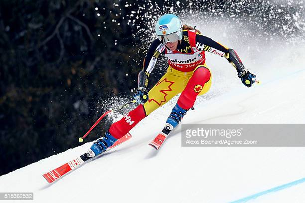 MarieMichele Gagnon of Canada competes during the Audi FIS Alpine Ski World Cup Women's Super Combined on March 13 2016 in Lenzerheide Switzerland