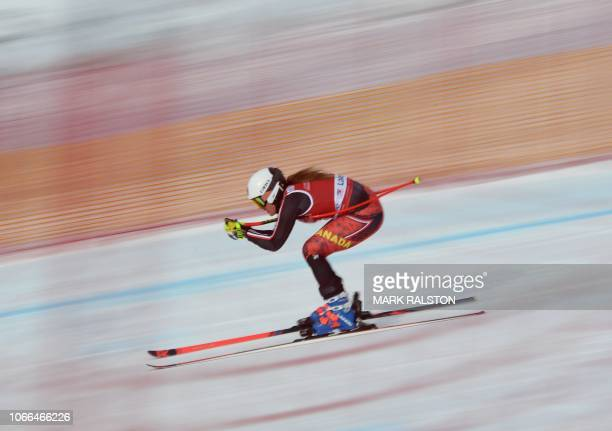 MarieMichele Gagnon of Canada skis the 'Easy Street' straight during the third training run of the Audi FIS Alpine Ski World Cup Women's 2019...