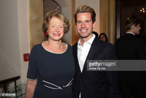 MarieMonique Steckel and James Brooks Jr attend the FIAF and Carnegie Hall Young Patrons Spring Concert Cocktail at the French Consulate on April 19...