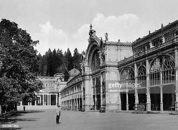 Marienbad Kolonnaden um 1898Foto Stengel Co