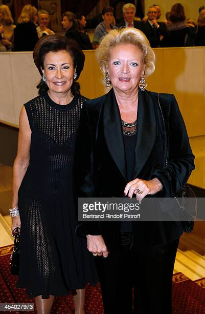 MarieNoel de Fouquieres and Princess Beatrice de Bourbon Siciles attending the celebration of 26 Years of Russian French Friendship by the...