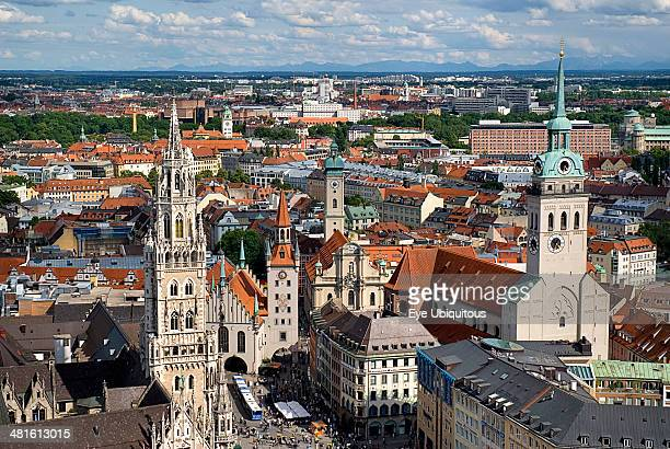 Marienplatz Aerial view of the New Town Hall or Neues Rathaus