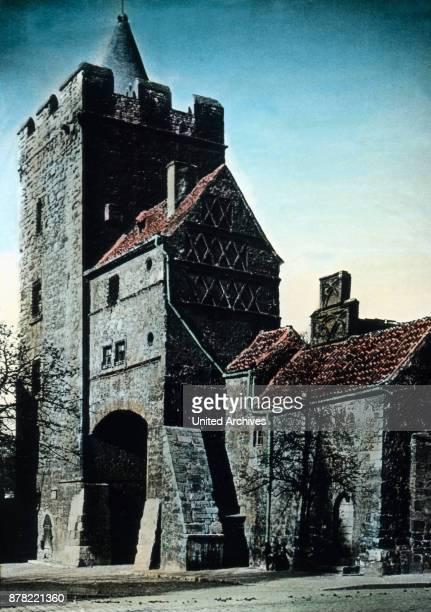 Marientor city gate of Naumburg Thuringia 1920s