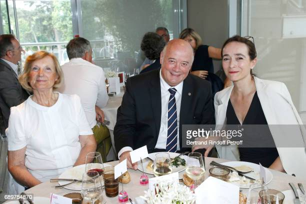 MarieOdile Amaury President of French Tennis Federation Bernard Giudicelli and President of France Television Delphine Ernotte attend the 'France...