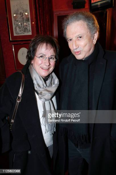 MariePaule Belle and Michel Drucker attend the Michele Bernier One Woman Show Vive Demain at Theatre des Varietes on January 28 2019 in Paris France